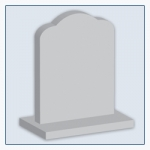 Round Shoulders Headstone Shape