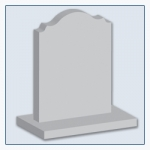 Rounded Pointed Shoulder Headstone Shape
